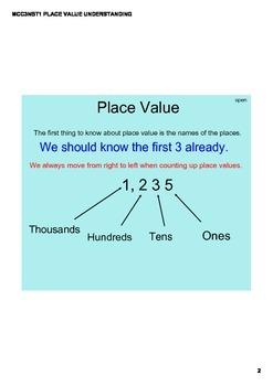Place value understanding thousands