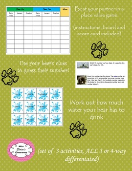 Place value up to 5 digits BEAR themed!