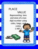 Place value with coins, longs and cubes