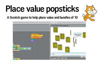 Place value with popsticks - Scratch game