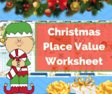 Place value worksheet / Prime and composite number - Christmas math - FREEBIE
