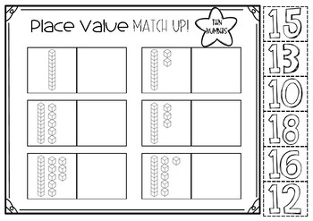 Place value worksheets for tens and ones!