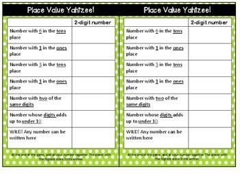 Place value yahtzee #ausbts19