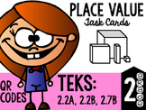 Place Value Task Cards Teks: 2.2a, 2.2b, 2.7b
