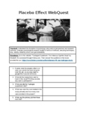 Placebo Effect WebQuest- Tuskegee Experiment