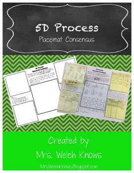 Placemat Consensus: 5D Process FREEBIE