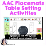 Life Skills Placemats and Table Setting Activities with Vi