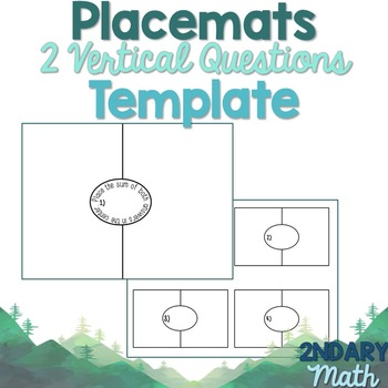 Placemat Template 2 Vertical Questions Per Page
