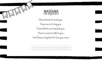 Placemat pour Mothers Day