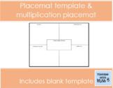 Placemat worksheet template & multiplication placemat