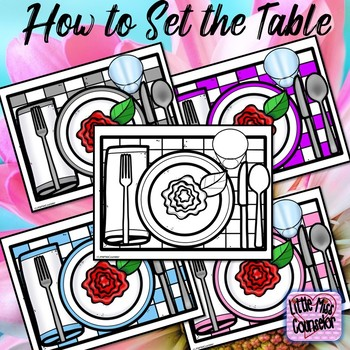 Placemats:  How to Set the Table