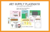 Organizing the Art Room: Placemats for Art Supplies