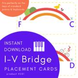 Placement Cards PIANO Bridges Printable INSTANT DOWNLOAD _