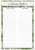 Placement Planner-Journal (Up to 30 days)