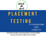 Placement Test for Low Level Readers