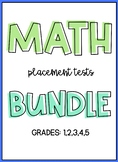 Distance Learning Math Placement Test Beginning and End of