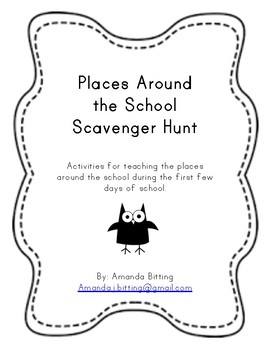Places Around the School Scavenger Hunt