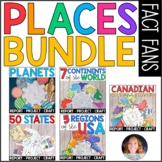 Places BUNDLE: Regions of the USA, State Report, Canada, and Planet Fact Fans!