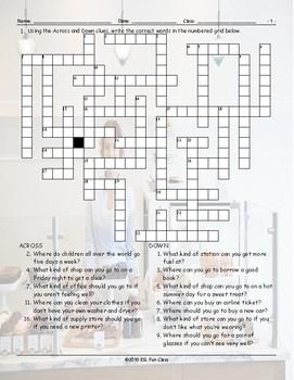 Places-Buildings Crossword Puzzle