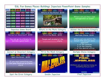 Places-Buildings Jeopardy PowerPoint Game Slideshow