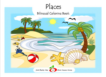 Places; ESL, Spanish Coloring Book