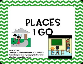 Places I Go Adapted Book Interactive Book
