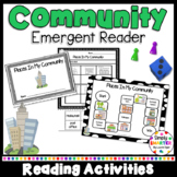Places In My Community Emergent Reader Book AND Interactive Activities