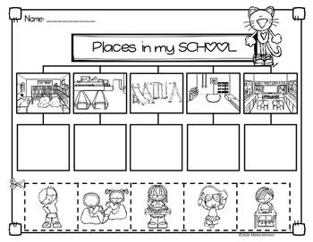 places in my school flipbook and activities by marta almiron tpt. Black Bedroom Furniture Sets. Home Design Ideas
