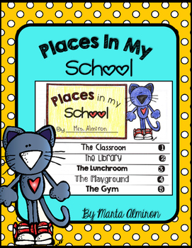 Places In My School Flipbook and Activities