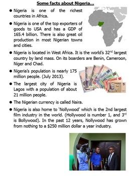 Places Lesson: Case study Nigeria
