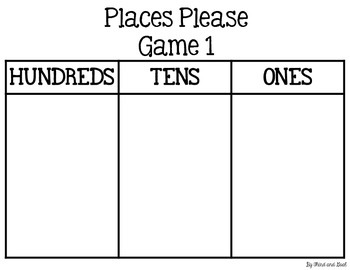 Places Please - FREE place value card game