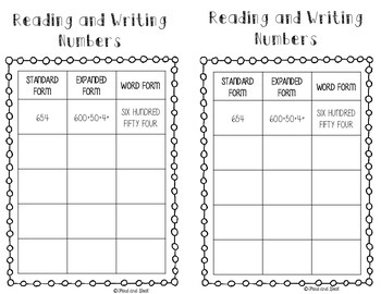 Places Please!  Place Value Interactive Notebook Activities