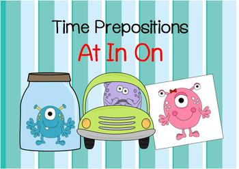 Time Prepositions (at in on)