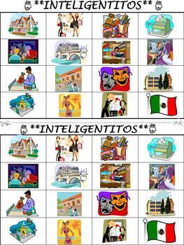 Places Vocabulary Activities & Games Unit in Spanish (Los Lugares)