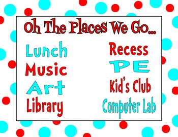 Places We Go Sign