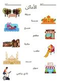 Places - al'amakin in Arabic