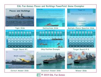 Places and Buildings English Battleship PowerPoint Game