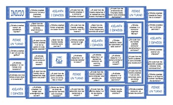 Places and Buildings Spanish Board Game