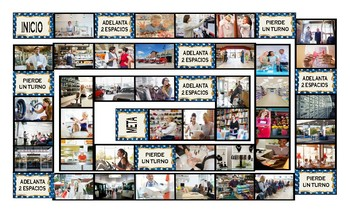 Places and Buildings Spanish Legal Size Photo Board Game