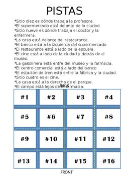 Places and Preposition Logic Puzzle