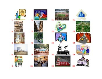 Places around town vocabulary quiz