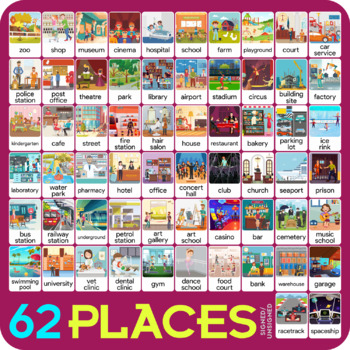 Places flashcards