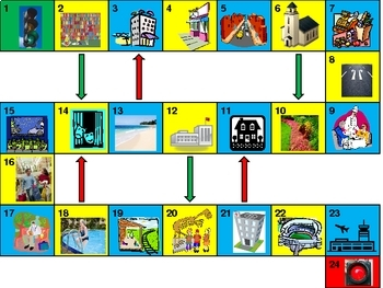 Places Game board power point version
