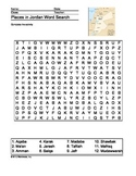 Places in Jordan Word Search
