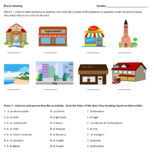 Places in Spanish Listening Practice WITH AUDIO