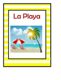Places in Spanish Word wall / Posters