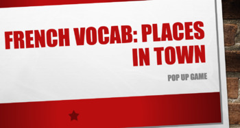 Places in Town Vocabulary : Pop-Up Game