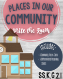 Places in our Community Write the Room Literacy Center SS.K.G.2.1