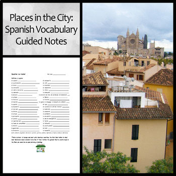 Places in the City Guided Notes