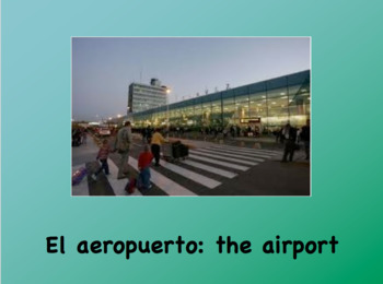 Places in the City Spanish Vocabulary Powerpoint